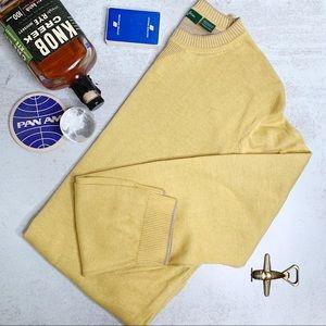 Bobby Jones yellow Peruvian cotton sweater Q0546